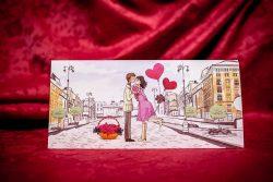 invitatie nunta 5023 haioasa cu inimioare moderna