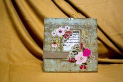 invitatie nunta 4004 eleganta moderna clasica cu flori