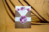 invitatie nunta 4009 clasica moderna cu flori