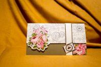 invitatie nunta 4022 clasica moderna cu flori