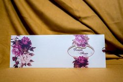 invitatie nunta 4001 clasica moderna eleganta cu flori