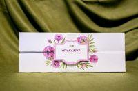 invitatie nunta 4021 cu flori clasica moderna ieftina