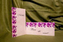 meniu de nunta asortat cu plic de bani 5014