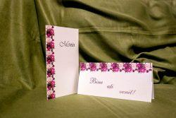 meniuri nunta asortate cu plicuri de bani 5028