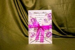 invitatie nunta 4013 clasica eleganta moderna cu flori