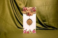 invitatie nunta 4074 clasica eleganta moderna cu flori