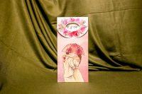 invitatie nunta 5006 moderna cu flori cu umbrela roz