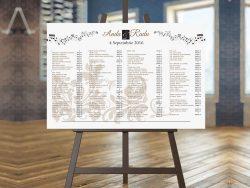 lista invitati cu asezarea meselor nunta