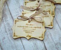 magneti nunta lemn personalizati