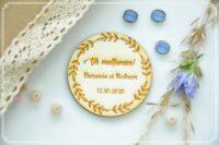 magneti nunta personalizati lemn