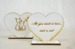 marturii nunta inimioara personalizata gravata