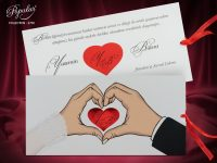 invitatii nunta cu inimioare